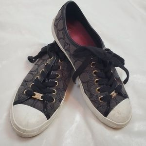 Coach Black & Charcoal Gray Converse Tennis Shoes